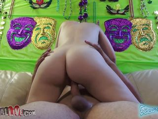cuttie blonde with perfect wazoo rides a cock