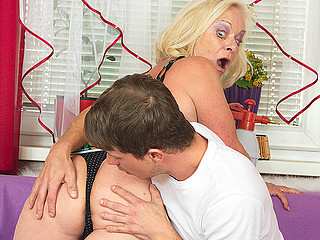 Filthy and unattractive blonde whore is riding a fat donger and blowing unfathomable