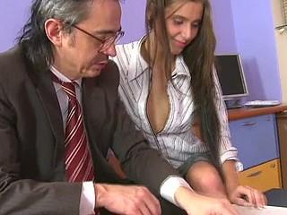 Horny teacher is pounding sweet chick senseless