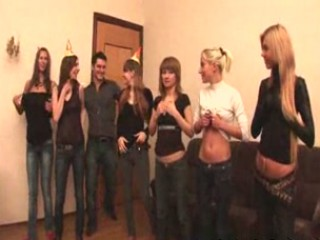 Russian students having an orgy