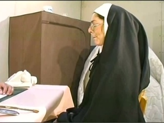 Naugthy nun gets her holes stuffed hardcore