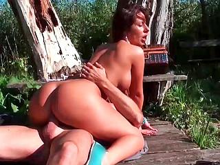 Debbie White sucking pulsing cock and getting plowed very deep