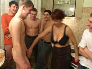 Birthday boy fucks his friend&amp,#039,s mom with fellows