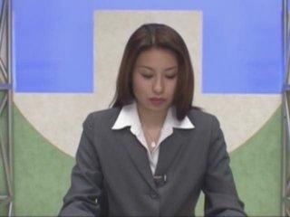 Japanese newsreader bukkake