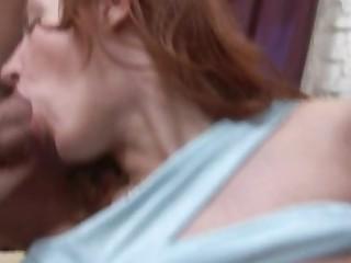 Redhead Babe in dp porn