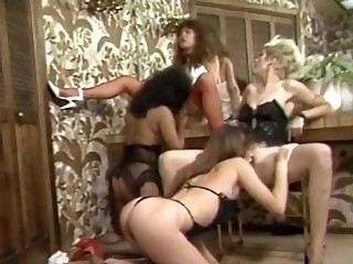 Females in Dirty undies team oral-fuckin