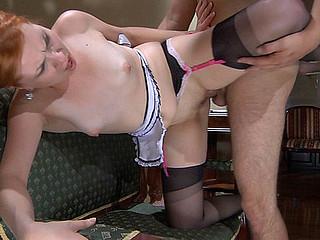 ChloeB&Ed hawt nylon clip scene