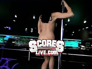 `Danielle Staub, formerly of ``The Real Housewives of Fresh Jersey,`` goes wild on a stripper pole at ScoresLive.com.`