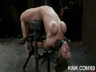 Busty hot hawt babe made into obedient slave