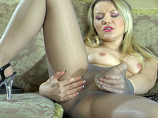 Connie posing in pantyhose