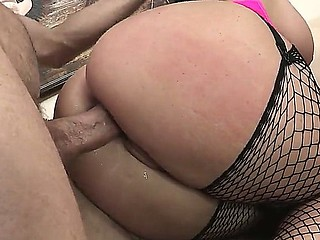 Superb hottie Sophie Dee is getting her pussy smashed up in amazing hardcore by hunk Jordan Ash