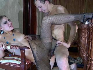 Bella&Connor secretary pantyhose sex clip